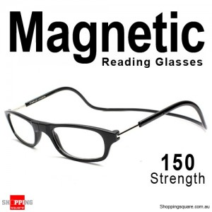 Hanging Reader Front Connect Magnetic Reading Glasses Strength 150 Black Colour