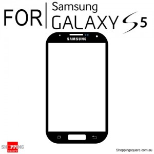 Replacement Front Glass for Samsung Galaxy S5 i9600 Black Colour