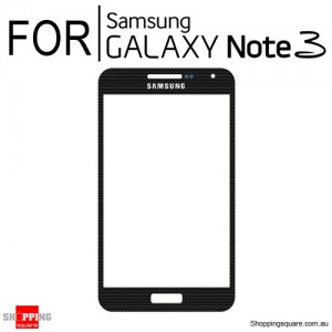 Replacement Front Glass for Samsung Galaxy Note 3 N9000 Black Colour
