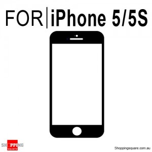 Replacement Front Glass for Apple iPhone 5 & 5S Black Colour