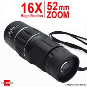 16X52 Dual Focus Optics Zoom Monocular Black Colour