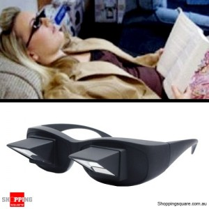 Lazyman's Horizontal Prism Angled Glasses for Reading & Watching