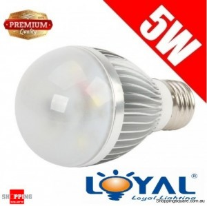 Premium LOYAL™ Super Bright 5W E27 Warm White LED Light Bulb Lamp 3000KHz 500LM SAA Approval