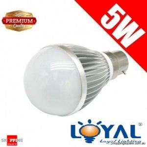 Premium LOYAL™ Super Bright 5W B22 Warm White LED Light Bulb Lamp 3000KHz 500LM SAA Approval