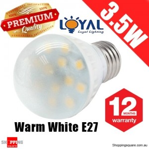 Premium LOYAL™ 3.5W E27 Warm White 12 LED Light Bulb Lamp 110-240V SAA Approval