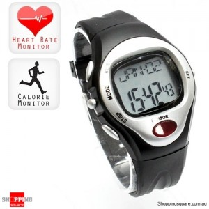 Fitness Pulse Heart Rate Monitor Calorie Counter Sports Watch Silver Colour