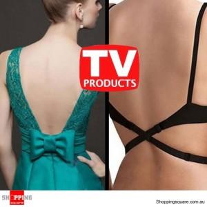 1 Pair Low Back Converter Bra Strap Extenders - Black colour