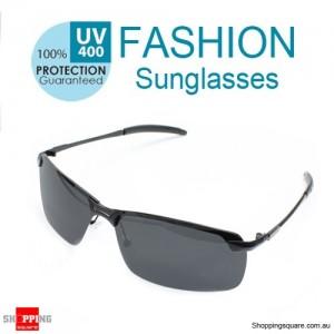 Men's UV400 Polarized Sunglasses Fashion Black Frame