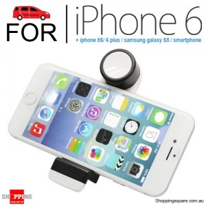 Adjustable Car Air Vent Mount Cradle Holder Stand For iPhone 6 White Colour