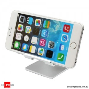 Removable Portable Aluminum Case Stand Holder For Smart Mobile Phone Tablet Silver Colour