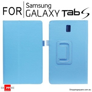 "New Flip Leather Case Cover for Samsung Galaxy Tab S 8.4"" T700 Blue Colour"