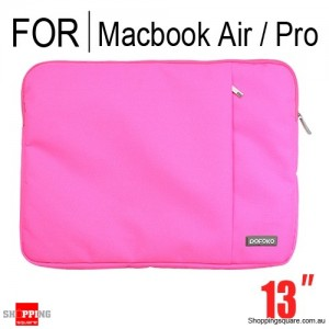 Pofoko Sleeve carry bag case For Macbook Air Pro 13 inch Pink Colour