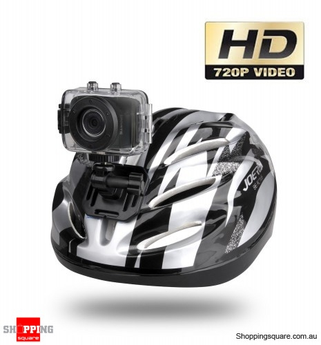 HD Pro Waterproof Helmet Sport Action Camera, Digital Video Camcorder GO Action - Black