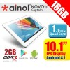 Ainol NOVO 10 Captain Quad core 16GB Support Micro SD up to 32GB Android Tablet White