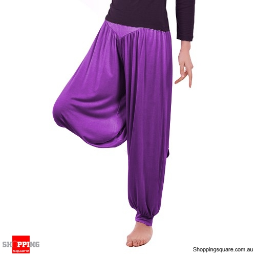 Women Boho Harem Pants Yoga Trousers Size 12 Purple Colour