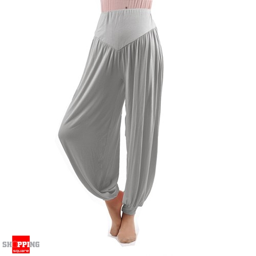 Women Boho Harem Pants Yoga Trousers Size 14 Light Grey