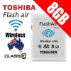 TOSHIBA 8GB FlashAir Wireless Data Transfer Class 10 SD Card Memory