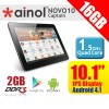 Ainol NOVO 10 Captain Quad core 16GB Support Micro SD up to 32GB Android Tablet Black