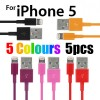 Red Purple Black Pink Orange Colour USB Data Charger Cable for iPhone 5S 5C 5 iPod Touch Nano 7 iPad Mini