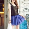 New Womens Loose Chiffon Top Vest Casual Elegant Sleeveless T-Shirt Size 8 Black Colour