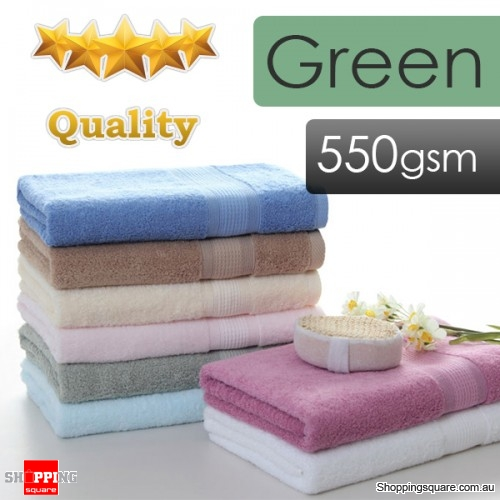 550gsm 5-Stars Hotel Quality 100% Pure Cotton Bath Towel - Green Colour