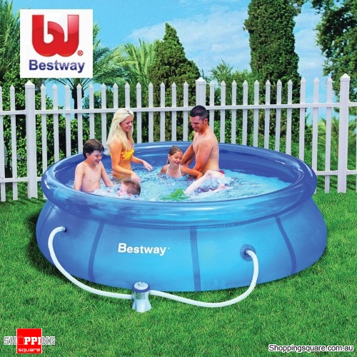 bestway 10 ft fast set large 305cm x 72cm inflatable outdoor swimming pool with filter online