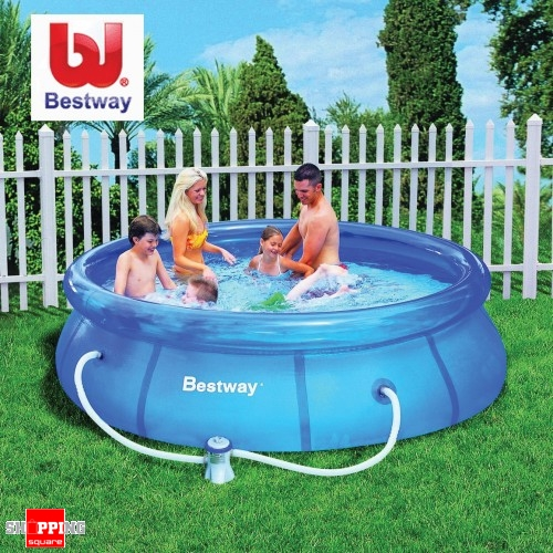 Bestway 10 Ft Inflatable Outdoor Swimming Pool Filter Pump 305 X 72cm Ebay