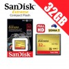 SanDisk Extreme Compact Flash 32GB Memory Card 120MB/s for DSLR Digital Camera FHD