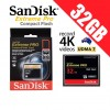 SanDisk Extreme Pro Compact Flash 32GB Memory Card 160MB/s for 4K Full HD DSLR Digital Cam