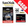 SanDisk Extreme Pro Compact Flash 64GB Memory Card 160MB/s for 4K Full HD DSLR Digital Cam