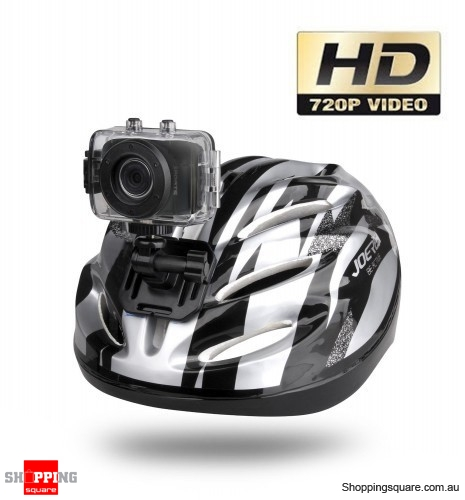 HD Pro Waterproof Helmet Sports Action Camera, Digital Video Camcorder GO Action - Black