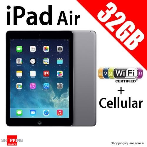 apple ipad air ips 32gb wifi cellular tablet 4g. Black Bedroom Furniture Sets. Home Design Ideas