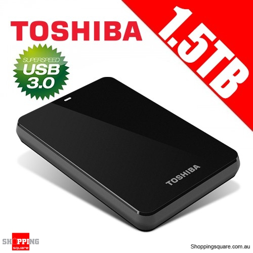 Toshiba 1.5TB Canvio® Connect Portable Hard Drive USB 3.0 - Black Storage HDTC715AK3C1  sc 1 st  Shopping Square & Toshiba 1.5TB Canvio® Connect Portable Hard Drive USB 3.0 - Black ...