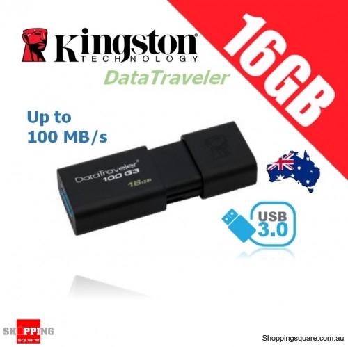 Kingston DataTraveler 100 G3 16GB USB Flash Drive (DT100G3)