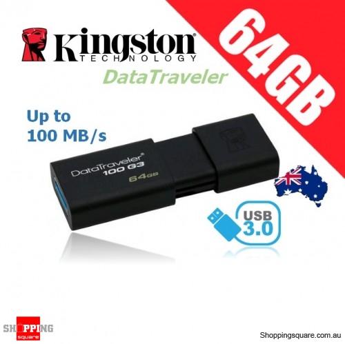 Kingston DataTraveler 100 G3 64GB USB Flash Drive (DT100G3)