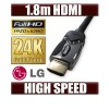 LG 1.8M HDMI Cable v1.4 3D High Speed with Ethernet HEC Digital Full HD 1080p