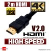 2m HDMI Cable v2.0 3D High Speed with Ethernet HEC 4K Ultra HD Digital Gold Plated(V1.40 compatible)