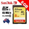 SanDisk Extreme HD Video SDHC 8GB Card Class 10 30MB/S