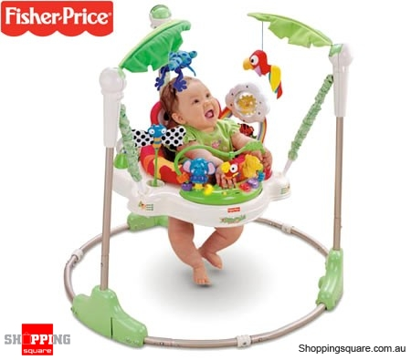 30ffc28a45f9 Fisher-Price Rainforest Jumperoo Baby Jumper with Sights and Sounds ...