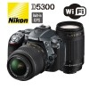 Nikon Digital SLR Camera D5300 kit 18-55mm & 70-300Gmm Black