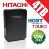 Hitachi 4TB Touro Desk Black USB 3.0 External Hard Drive