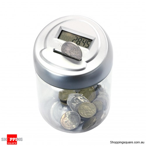 Digital coin counting pot jar money saving bank online shopping shopping square com au - Coin bank that counts money ...