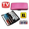 Extra Large Credit Card Wallet Holder Aluminum Metal Pocket Case Box Pink Colour