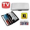 Extra Large Credit Card Wallet Holder Aluminum Metal Pocket Case Box Silver Colour