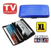 Extra Large Credit Card Wallet Holder Aluminum Metal Pocket Case Box Blue Colour