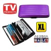 Extra Large Credit Card Wallet Holder Aluminum Metal Pocket Case Box Purple Colour