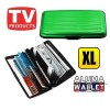 Extra Large Credit Card Wallet Holder Aluminum Metal Pocket Case Box Green Colour