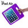 New Kids Shock Proof Thick Foam Cover Case Handle For ipad air Purple Colour