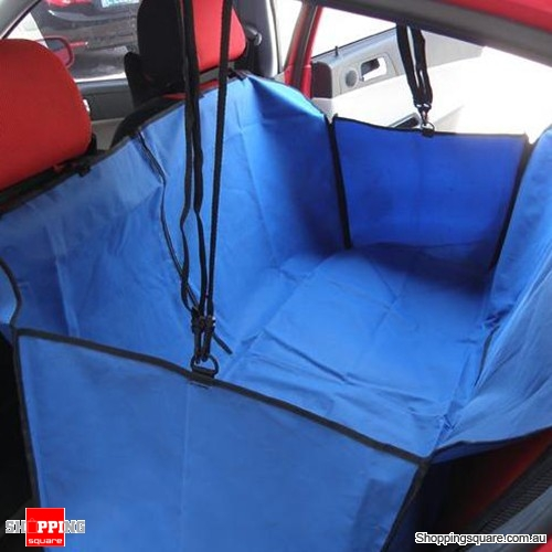 Car Back Seat Cover Pet Hammock Protector Mat Rear Cradle Blanket Travel Blue Colour