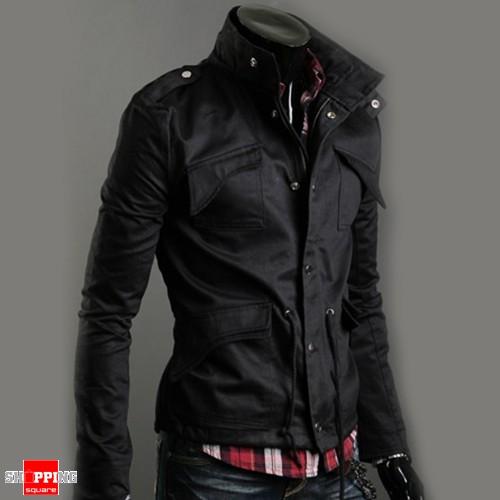 aa9ede1294c Men Casual Jacket Military Jacket coat Black Colour Size 8 - Online ...